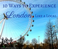 10 Ways to Experience London Like a Local