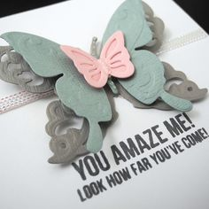 You Amaze Me butterfly card by Jennifer Ingle | Spellbinders