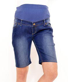 Look at this Gor&Sin Indigo Maternity Bermuda Shorts on #zulily today!