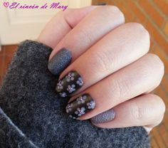 nail art anthracite + light taupe