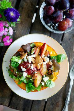 Salat mit karamellisierten Zwetschgen - #7xregional mit REWE Regional   Gewinnspiel - Gaumenfreundin - Food