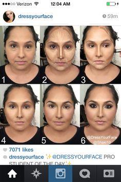 Power of make up. contouring, ohow to contour, c face shaping tutorial, jawline, Face Contouring, Contour Makeup, Contouring And Highlighting, Kiss Makeup, Love Makeup, Makeup Looks, Makeup 101, How To Contour, Contour Face
