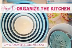 Need to do a major organization overhaul in your kitchen? This is the BEST out there for organizing every thing you can imagine in your kitchen. Via  A Bowl Full of Lemons
