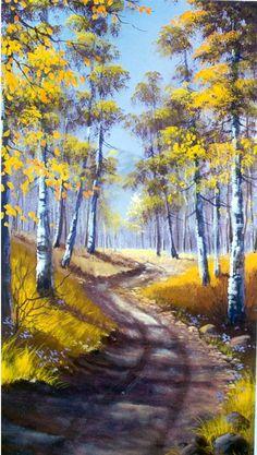 ما أجملها ،، ما أروع استخدام الألوان في هذه اللوحة !!  jerry yarnell paintings   Yarnell Landscape Series