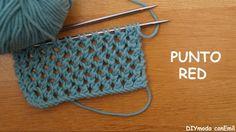 Cómo tejer punto red a dos agujas paso a paso - PUNTO - Knitting Videos, Crochet Videos, Knitting Stitches, Free Knitting, Knitting Needles, Crochet Baby, Knit Crochet, Knitting Patterns, Crochet Patterns