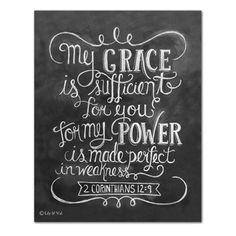Scripture Art - 2 Corinthians 12:9 (Print)