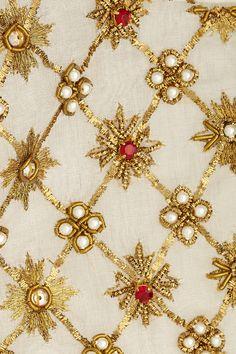 Alexander McQueen | Embellished pleated silk-organza blouse