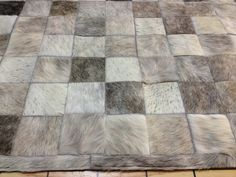 LIFESTYLE by Cara  --  Grey Custom Cowhide Patchwork Rug Cow Hide Leather Hairhide Carpet by LifestyleByCara on Etsy https://www.etsy.com/listing/103625536/lifestyle-by-cara-grey-custom-cowhide