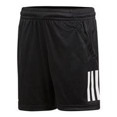 Boys` 3 Stripes Club Tennis Short Black