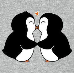Resultado de imagen para pinguinos enamorados imagenes