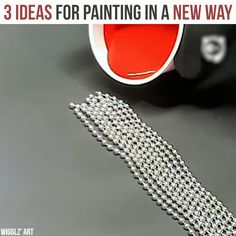 3 ideas for painting in a new way Canvas Painting Tutorials, Acrylic Painting Techniques, Diy Canvas Art, Painting Tips, Pour Painting, Acrylic Pouring Art, Acrylic Art, Popular Memes, Handmade Art