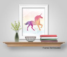 UNICORN WALL ART DECOR - DIY UNICORN PRINTABLE WALL ART
