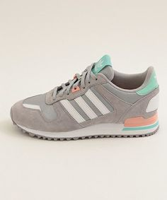 adidas Originals ZX 700: Grey/Peach/Green