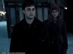 A scene from the Harry Potter film 'The Deathly Hallows' where Harry and Hermione travel to Godric's Hollow, Harry's birthplace and the place where his parents died