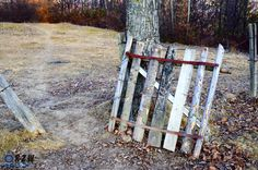 A rusty gate and a path in bright colors