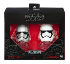 Star Wars: Black Series - Captain Phasma & Stormtrooper Die-Cast Metal Helmets    Star Wars, Star Wars: Black Series www.detoyboys.nl