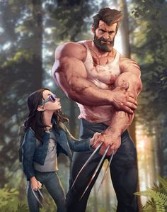 Logan & Laura - http://silverjow.deviantart.com/art/Logan-and-Laura-682034280
