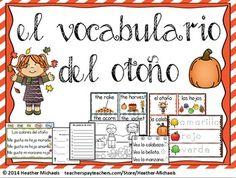 El otoño / Bilingual Kindergarten + ESL Vocabulary Resources for Biliteracy