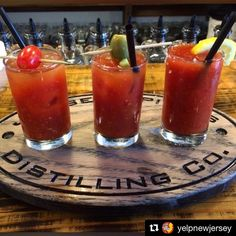 Who wants one?? Tag someone who could use one of these right about now...   #Repost @yelpnewjersey  We've never seen a flight we didn't like! Check out @jerseyspirits for this unique Bloody Mary flight I know where we'll be this Sunday #bloodymary #jerseyspiritsdistillingco #fairfieldnj #yelpnewjersey : D S.