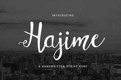 Hajime from FontBundles.net
