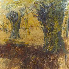 Sarah Bee Ancient Trees Richmond Park, mixed media