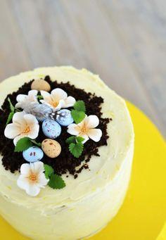 Louise´s Spis: Lemon and Passionfruit Spring Cake (Citron- och passionfruktstårta)