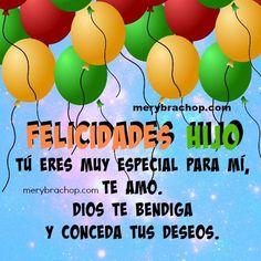 Happy Birthday In Spanish, Happy Birthday Son, Happy Birthday Celebration, Birthday Cards For Boys, Happy Birthday Images, Happy Fathers Day, Birthday Greetings, Good Morning Love, Son Quotes