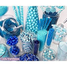 Blue Candy Buffet- inspiration for the Cookie Monster Party!