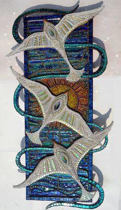 Seagulls & sunset, Mosaic - Nikki Ella Whitlock