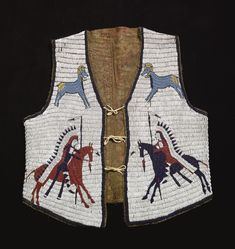 Sioux Pictorial Beaded Hide Vest