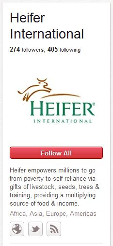 If you teach a person how to fish... Heifer International