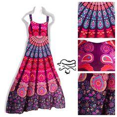 Womens Sun Dress Women's Hippie Dress size medium