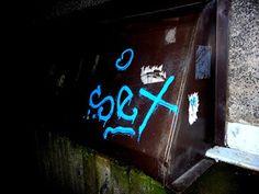 Street Art of North: Dark age called Kaamos. Street art in Helsinki