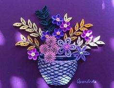 Quilling. Flower basket. By Canan Ersöz.