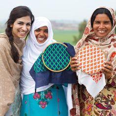 Our founder in Hafizabad with our amazing artisan women! #Popinjay #dogood #madebyhand #handmade #Pakistan #socent #craftsmanship #dogood #leather #embroidery #handcrafted #handbags #artisanmade #fairtradefashion #Punjab #artisanwomen #ethicalfashion #style