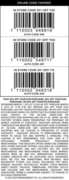 25% Off The Tab At American Eagle & Aerie, Or Online Via Promo