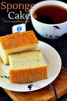 Simple Eggless Cake Recipe, Veg Cake Recipe, Basic Vanilla Cake Recipe, Eggless Recipes, Eggless Baking, Healthy Cake Recipes, Homemade Cake Recipes, Cookie Recipes, Sheet Cake Recipes