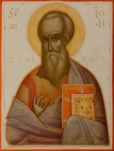 John the Theologian by Gabriel Toma Chituc Religious Images, Religious Icons, Religious Art, Byzantine Icons, Byzantine Art, Best Icons, Icon Collection, Orthodox Icons, Sacred Art