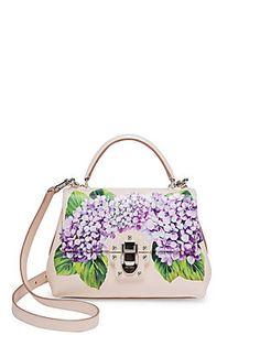 Dolce   Gabbana - Lucia Hydrangea-Print Leather Top Handle Bag 72da287c65243