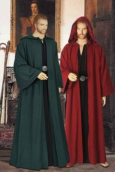 Medieval Wicca Pagan Ritual Robe with Hood by YourDressmaker, $67.50