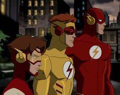 Flash,Kid Flash, And Impulse Young Justice League, Wally West Young Justice, Young Justice Invasion, Dc Comics Art, Batman Comics, Dc Animated Series, Power Rangers Comic, Marvel Dc Movies, The Flash Season