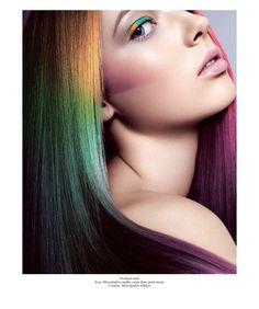 Color me, baby! Mais sombras e cabelos coloridos  | artistic makeup.