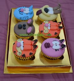Olive's Cake: Garfield and friends cupcake
