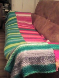 my project blanket  2 rows ready 2 rows to go before he's finished