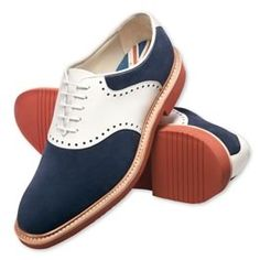 Charles Tyrwhitt | Navy & white American saddle shoes $260