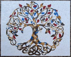 Exquisite Tree of Life – Mosaic Art - Modern Tree Of Life Artwork, Tree Of Life Painting, Tree Art, Mosaic Crafts, Mosaic Art, Mosaic Mirrors, Mosaic Projects, Tree Of Life Quotes, Tree Drawings Pencil