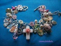 Frida Kahlo Glass Pictures Charm Bracelet. $39.99, via Etsy.