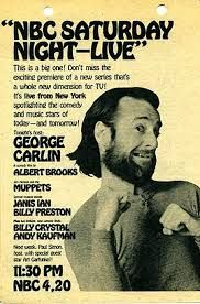 """This Day in History: October 11, 1975 - """"Saturday Night Live"""" was broadcast for the first time. George Carlin was the guest host. Find out what else happened this day in #history http://www.on-this-day.com/onthisday/thedays/alldays/oct11.htm https://www.facebook.com/CenturyCorpMD #SNL #carlin #tv"""