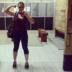 Meu nome: Nathy Balboa! Guerreira no sabado de manha na academia. #nathyfininha2014 #projetonathygostosa