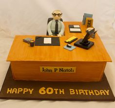 Birthday Cake For Him, Happy 60th Birthday, Adult Birthday Cakes, Cool Birthday Cakes, Fisherman Cake, Birth Cakes, Beautiful Birthday Cakes, Beautiful Cakes, Cake For Husband